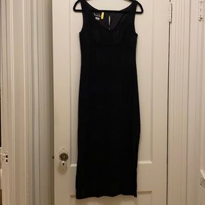 Nicole Miller long black formal / wedding dress